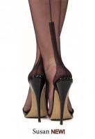 Gio Susan Heels Nylons mit schlanker hochgezogener Ferse